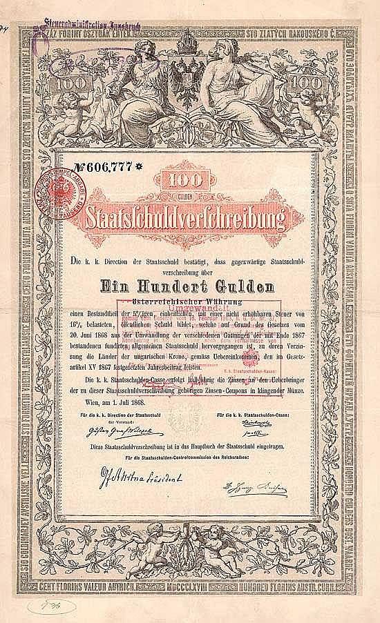 Österreich, k. k. Staatsschulden-Casse