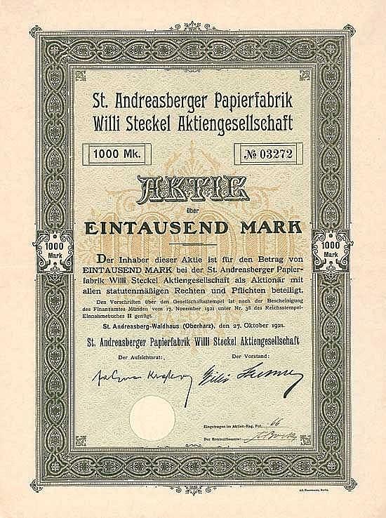 St. Andreasberger Papierfabrik Willi Steckel AG
