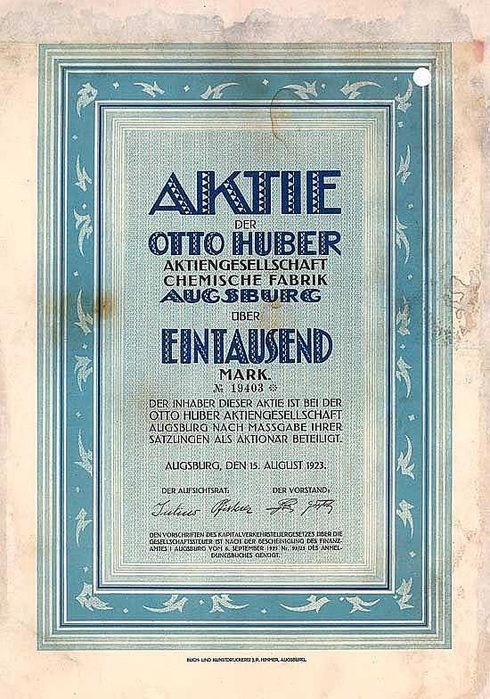 Otto Huber AG Chemische Fabrik
