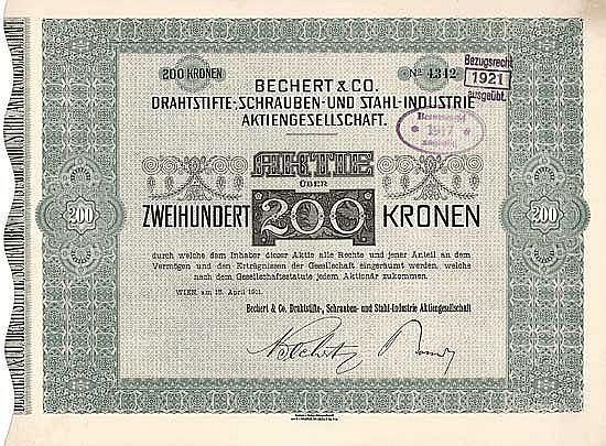 Bechert & Co. Drahtstifte-, Schrauben- und Stahl-Industrie AG