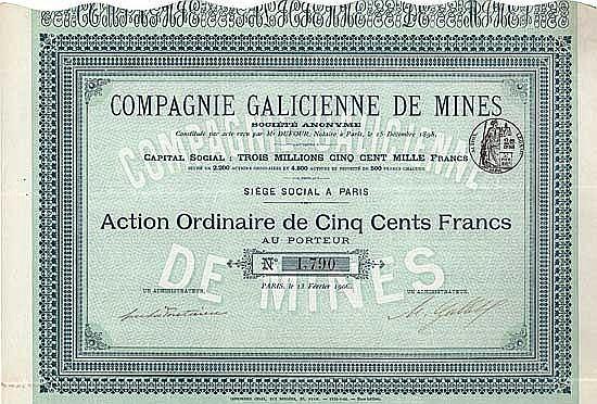 Cie. Galicienne de Mines S.A.