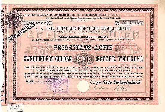 K.k. priv. Friauler Eisenbahn-Gesellschaft