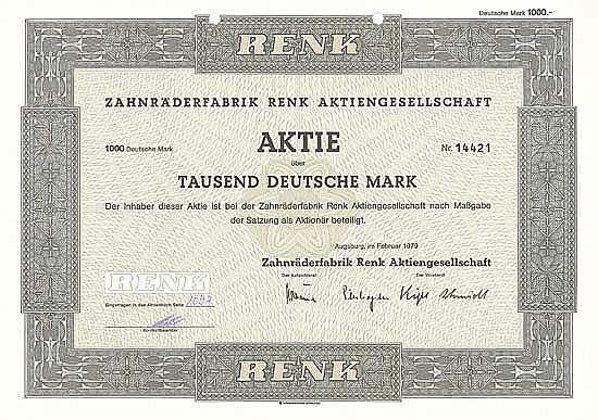 Zahnräderfabrik Renk AG