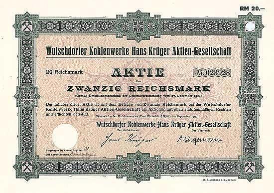 Wutschdorfer Kohlenwerke Hans Krüger AG