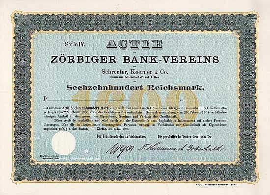 Zörbiger Bank-Verein von Schroeter, Koerner & Comp. KGaA