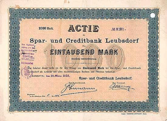 Spar- und Creditbank Leubsdorf