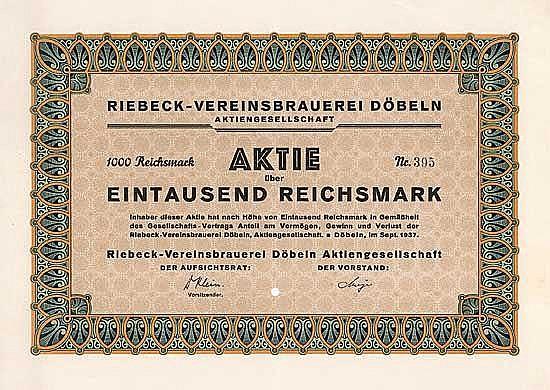 Riebeck-Vereinsbrauerei Döbeln AG