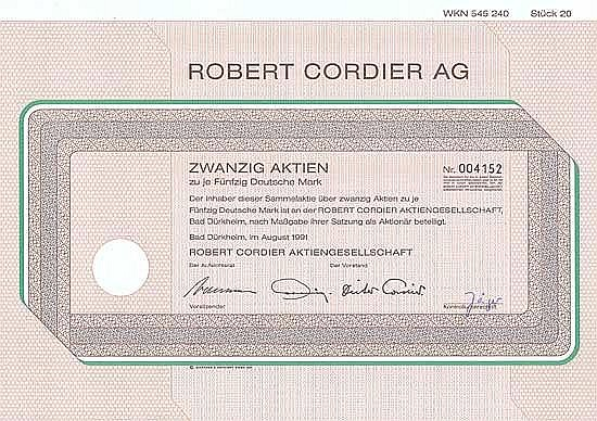 Robert Cordier AG