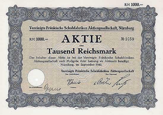 Vereinigte Fränkische Schuhfabriken AG