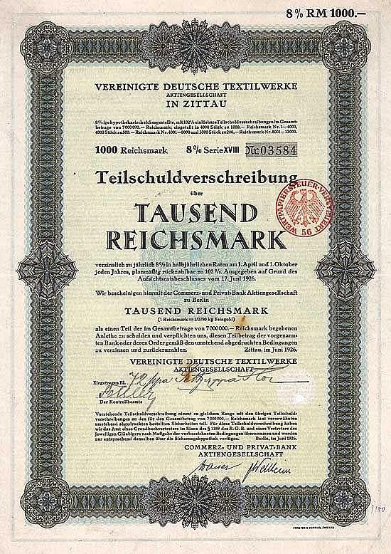 Vereinigte Deutsche Textilwerke AG