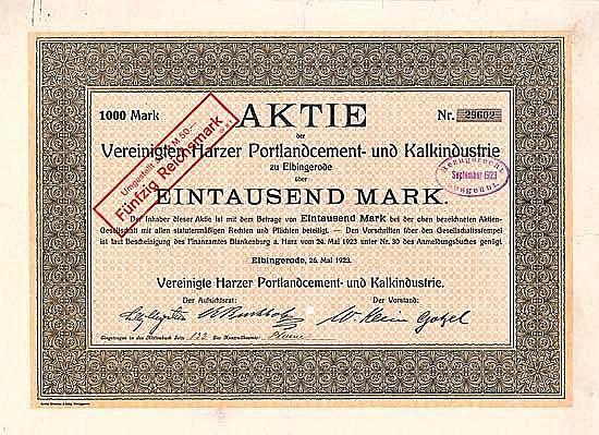 Vereinigte Harzer Portlandcement- und Kalkindustrie