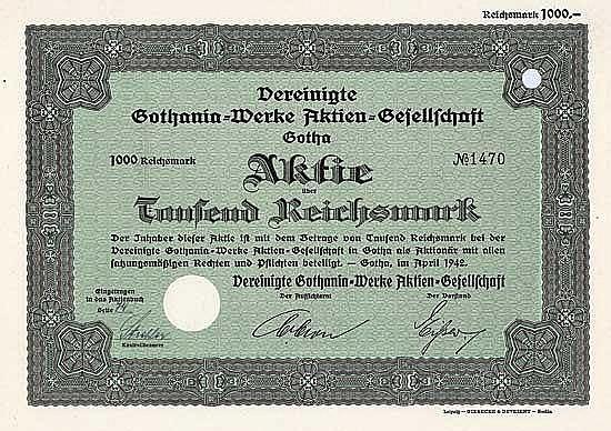 Vereinigte Gothania-Werke AG
