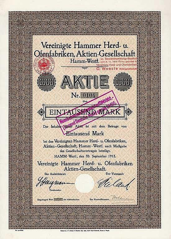 Vereinigte Hammer Herd- u. Ofenfabriken AG
