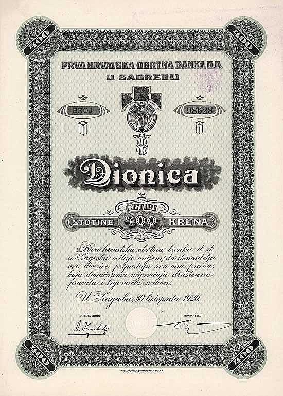 Erste Kroatische Handelsbank (Prva Hrvatska Obrtna Banka D.D.)