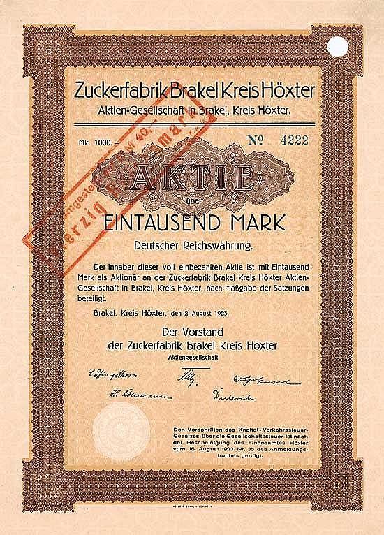 Zuckerfabrik Brakel Kreis Höxter AG