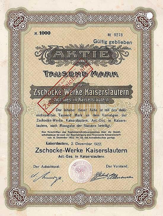 Zschocke-Werke Kaiserslautern AG