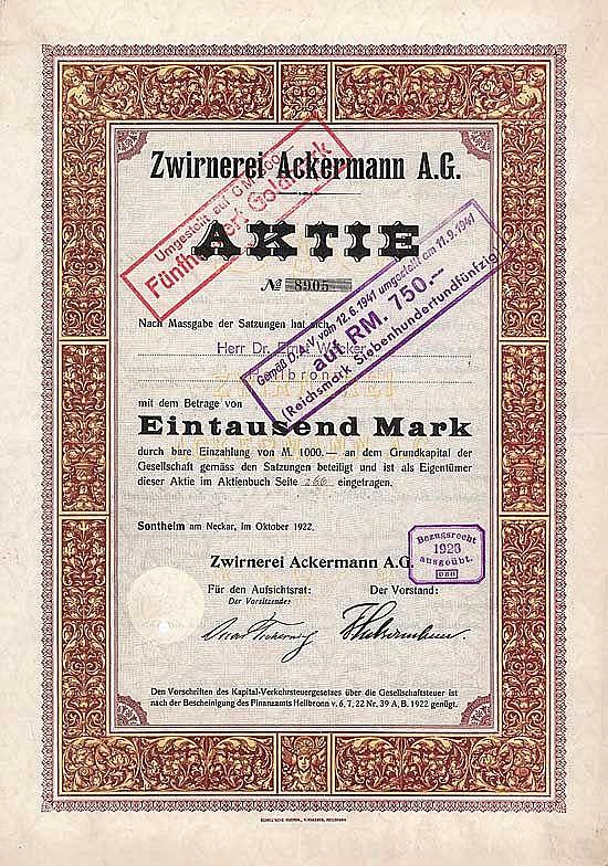 Zwirnerei Ackermann AG