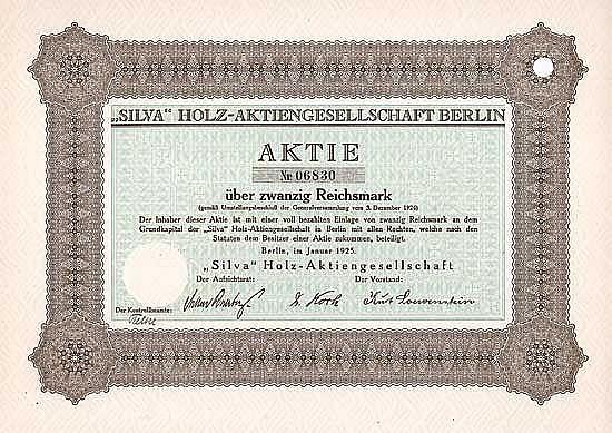 SILVA Holz-AG