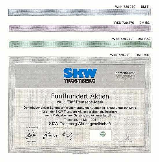 SKW Trostberg AG (4 Stücke)