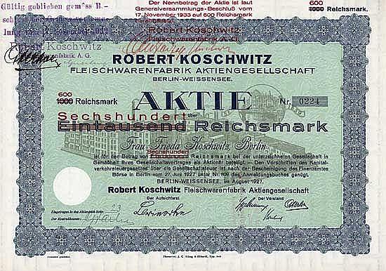 Robert Koschwitz Fleischwarenfabrik AG