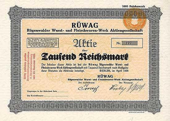 RÜWAG Rügenwalder Wurst- und Fleischwaren-Werk AG