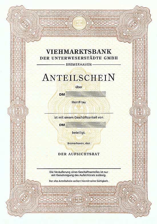 Viehmarktsbank der Unterweserstädte GmbH