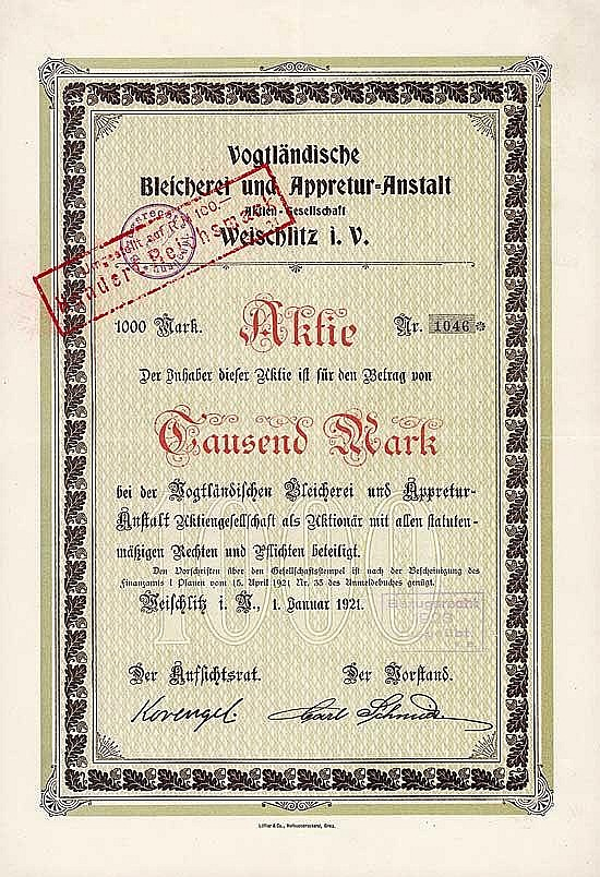 Vogtländische Bleicherei und Appretur-Anstalt AG