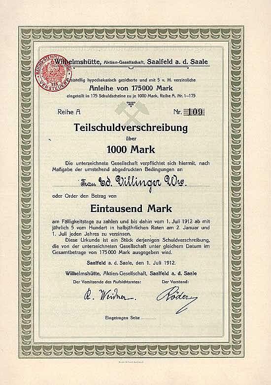 Wilhelmshütte AG