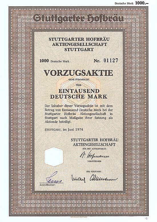 Stuttgarter Hofbräu AG