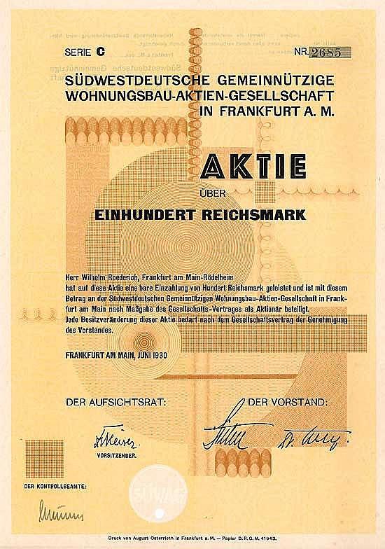 Südwestdeutsche Gemeinnützige Wohnungsbau-AG