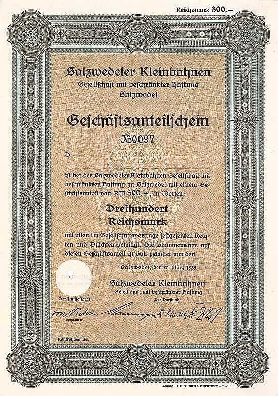 Salzwedeler Kleinbahnen GmbH