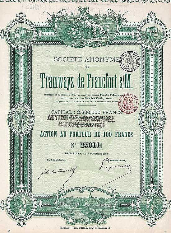 S.A. des Tramways de Francfort s/M.