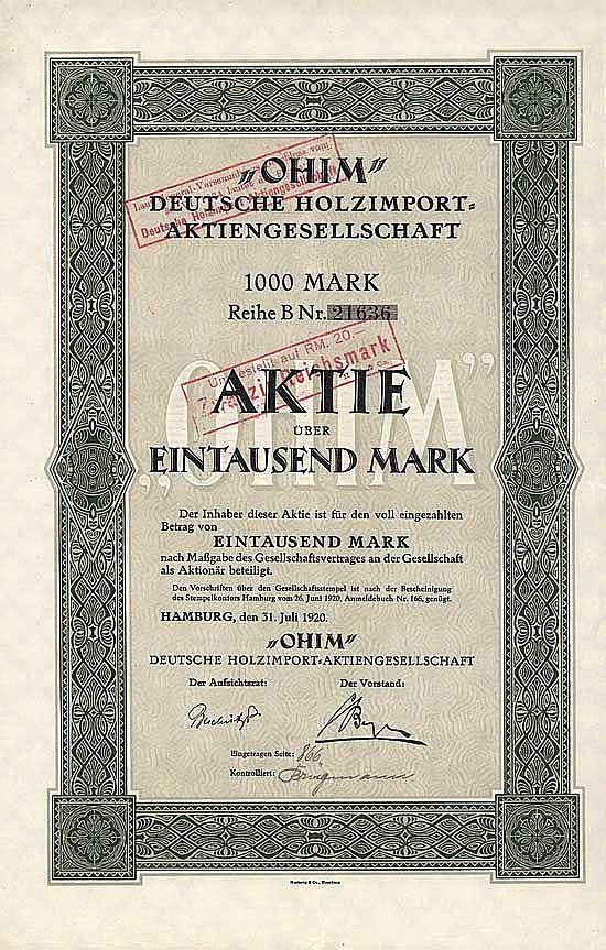 OHIM Deutsche Holzimport-AG