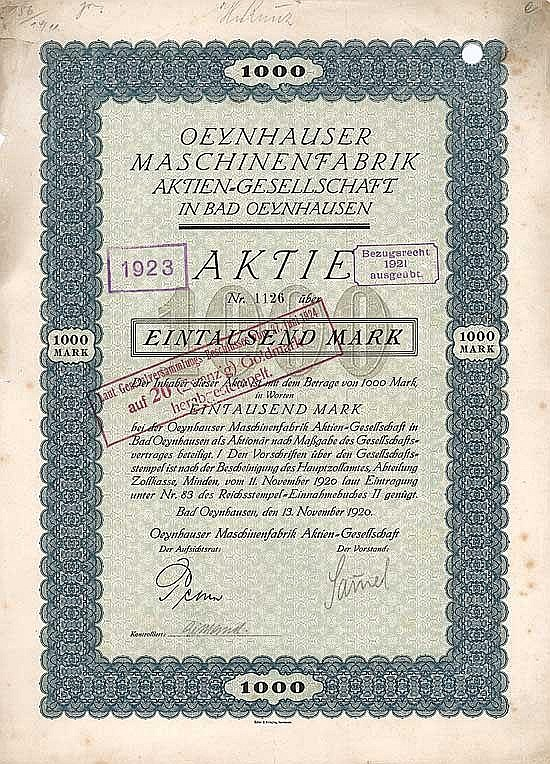 Oeynhauser Maschinenfabrik AG
