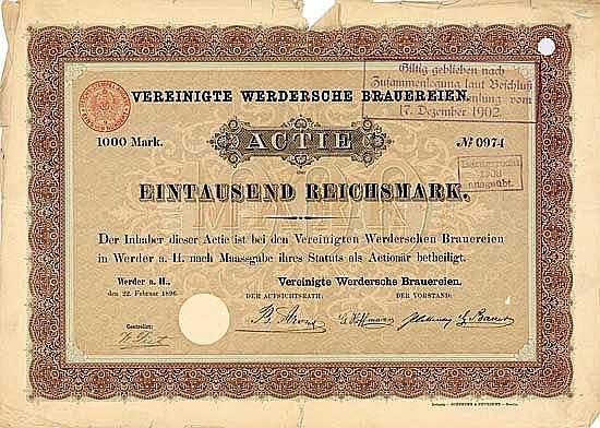 Vereinigte Werdersche Brauereien