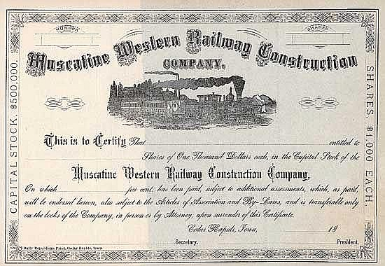 Muscatine Western Railway Construction Co.