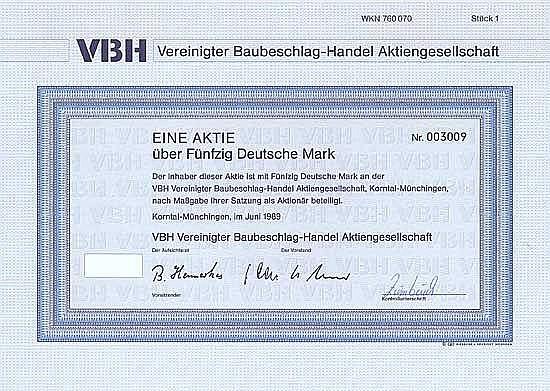 VBH Vereinigter Baubeschlag-Handel AG