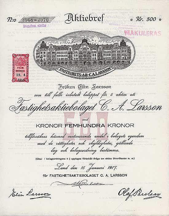 Fastighetsaktiebolaget C.A. Larsson