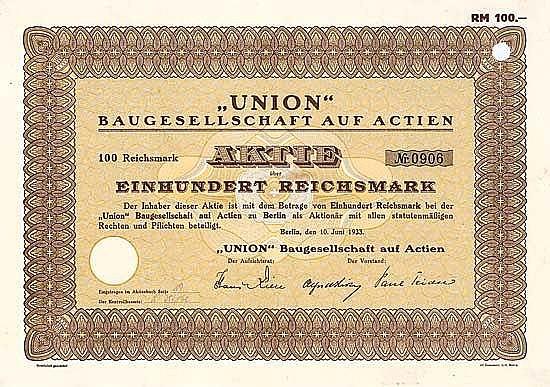UNION Baugesellschaft auf Actien