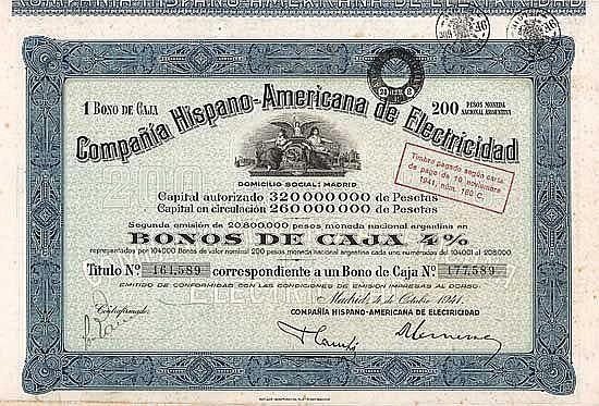 Cia. Hispano-Americana de Electricidad