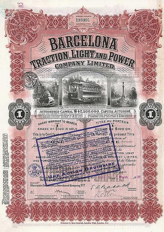Barcelona Traction, Light & Power Co. Ltd.