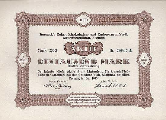 Steeneck's Keks-, Schokoladen- und Zuckerwarenfabrik AG