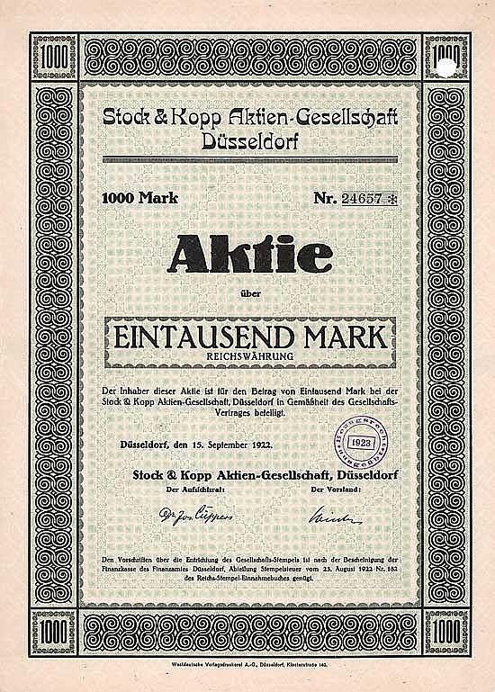 Stock & Kopp AG
