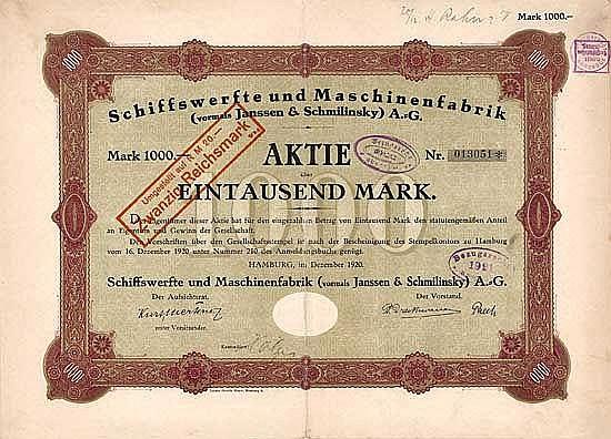 Schiffswerfte und Maschinenfabrik (vormals Janssen & Schmilinsky) AG