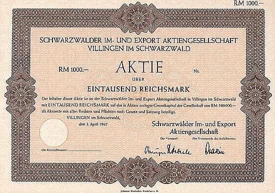 Schwarzwälder Im- und Export AG