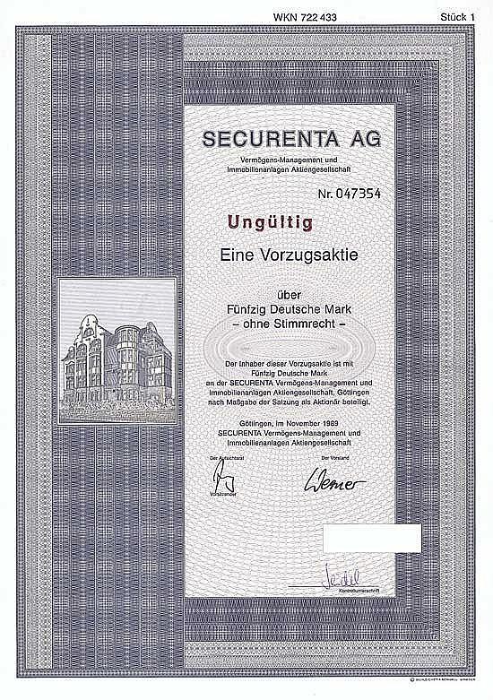 SECURENTA Vermögens-Management und Immobilienanlagen AG