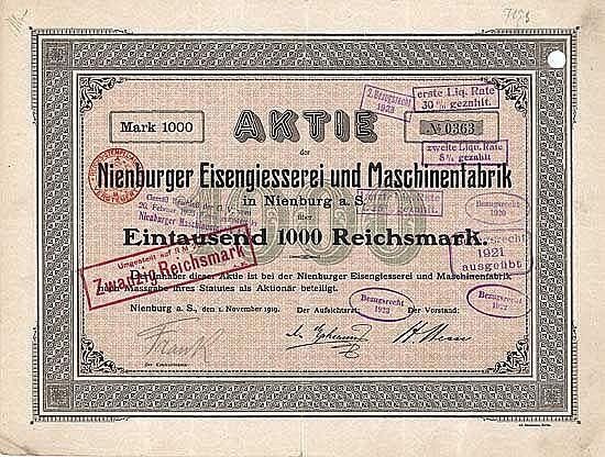 Nienburger Eisengiesserei und Maschinenfabrik