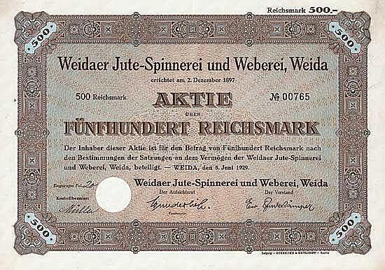Weidaer Jute-Spinnerei und Weberei