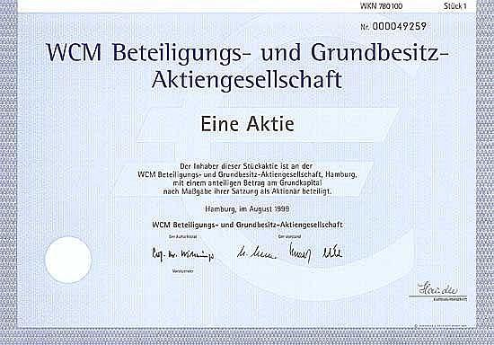WCM Beteiligungs- und Grundbesitz-AG