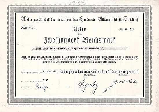 Wohnungsgesellschaft des niederrheinischen Handwerks AG